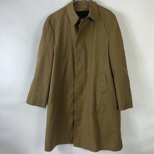 KORATRON Tan Trench Coat Men Sz M